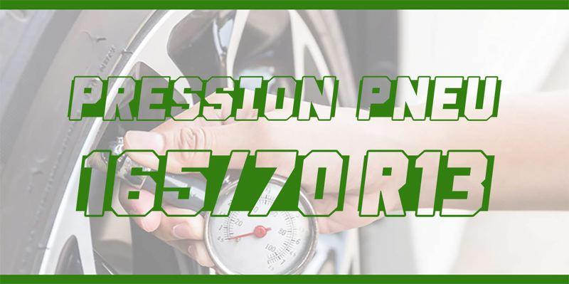 Pression Pneu 165/70 R13