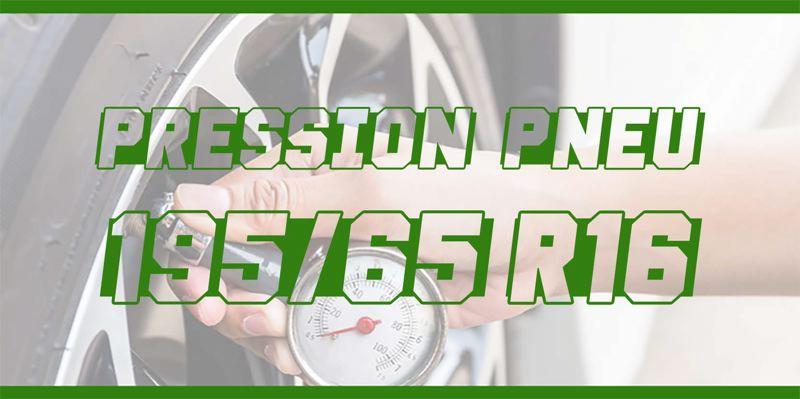 Pression Pneu 195/65 R16