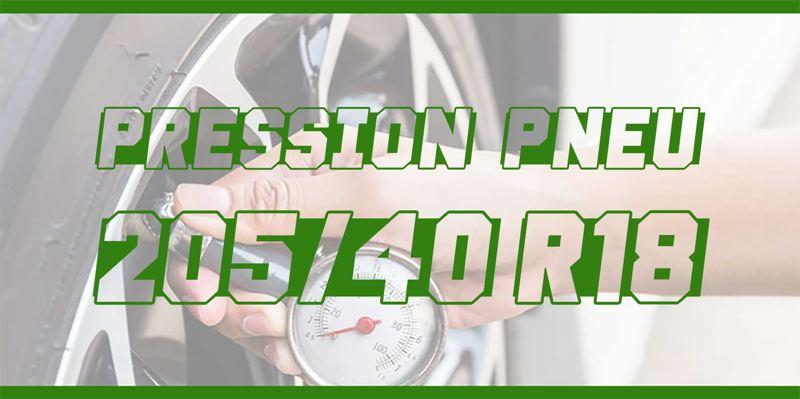 Pression Pneu 205/40 R18