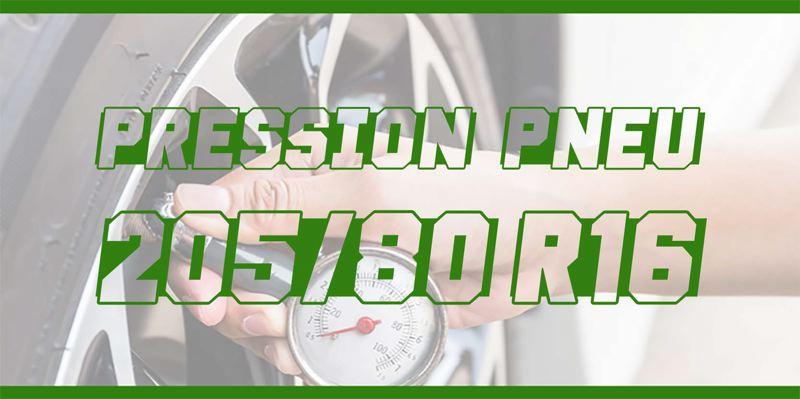 Pression Pneu 205/80 R16