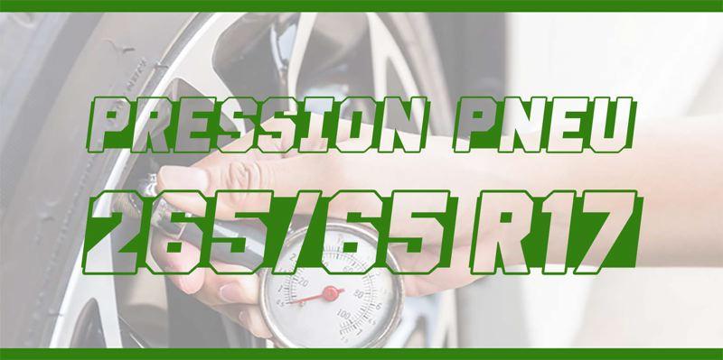 Pression Pneu 265/65 R17